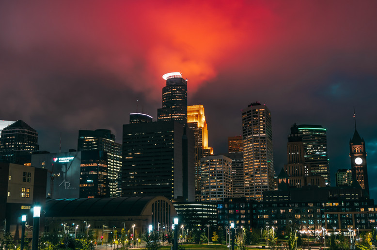 Minneapolis Fire Skyline