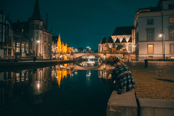 Gent, Belgium Canal Chillin