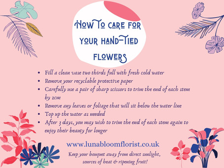 How to care for your hand tied flowers
