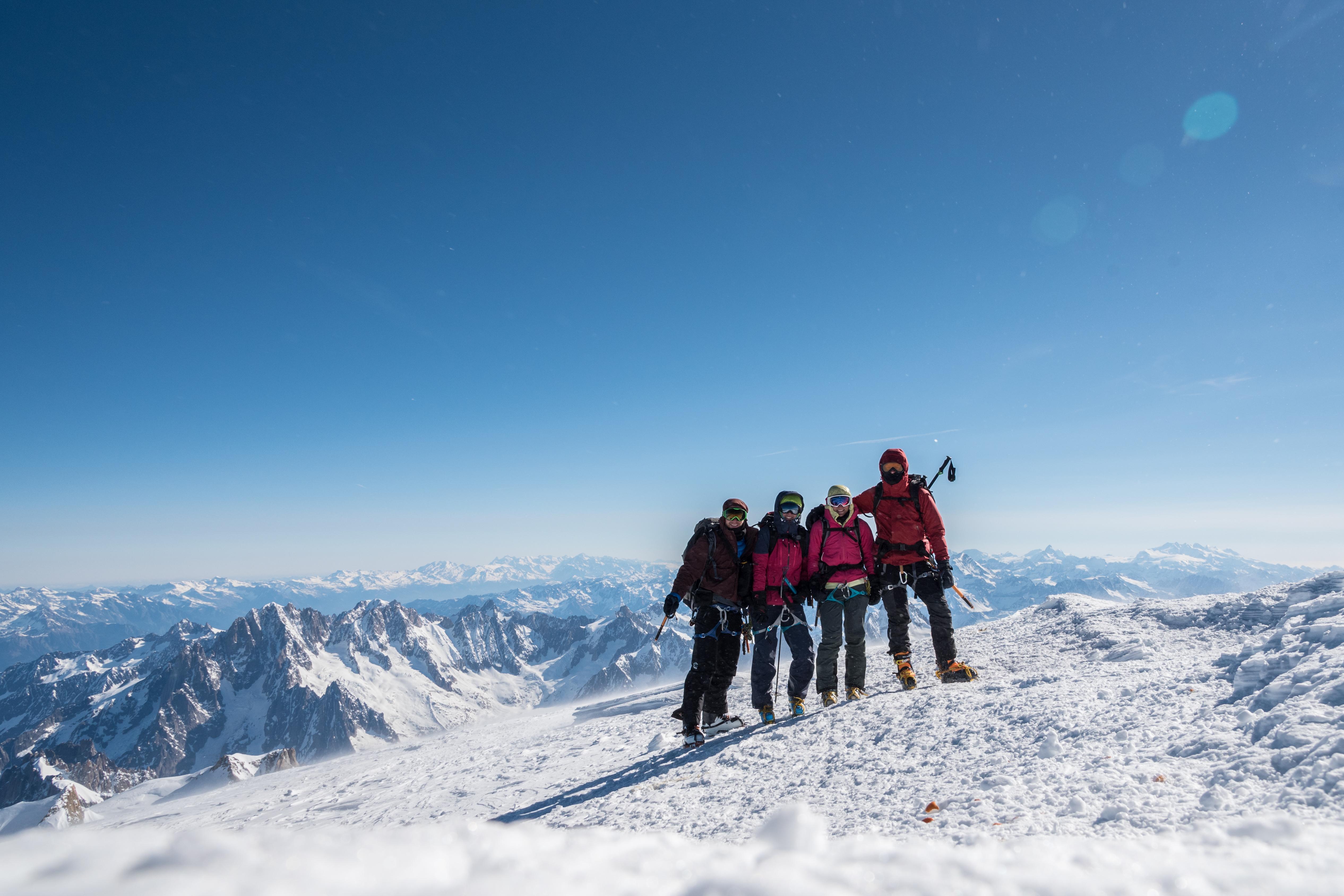 Winterbesteigung Mont Blanc: ein großartiger Weg mit einem großartigen Team