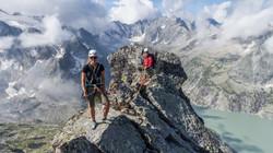 Seit Jahren ein eingespieltes Team: mit Seilpartnerin Babsi in der Schweiz