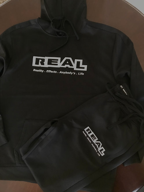 Real Black 2 piece Sweat Suit
