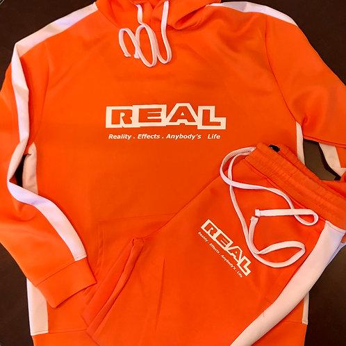 Real Orange 2 Piece Sweat Suit