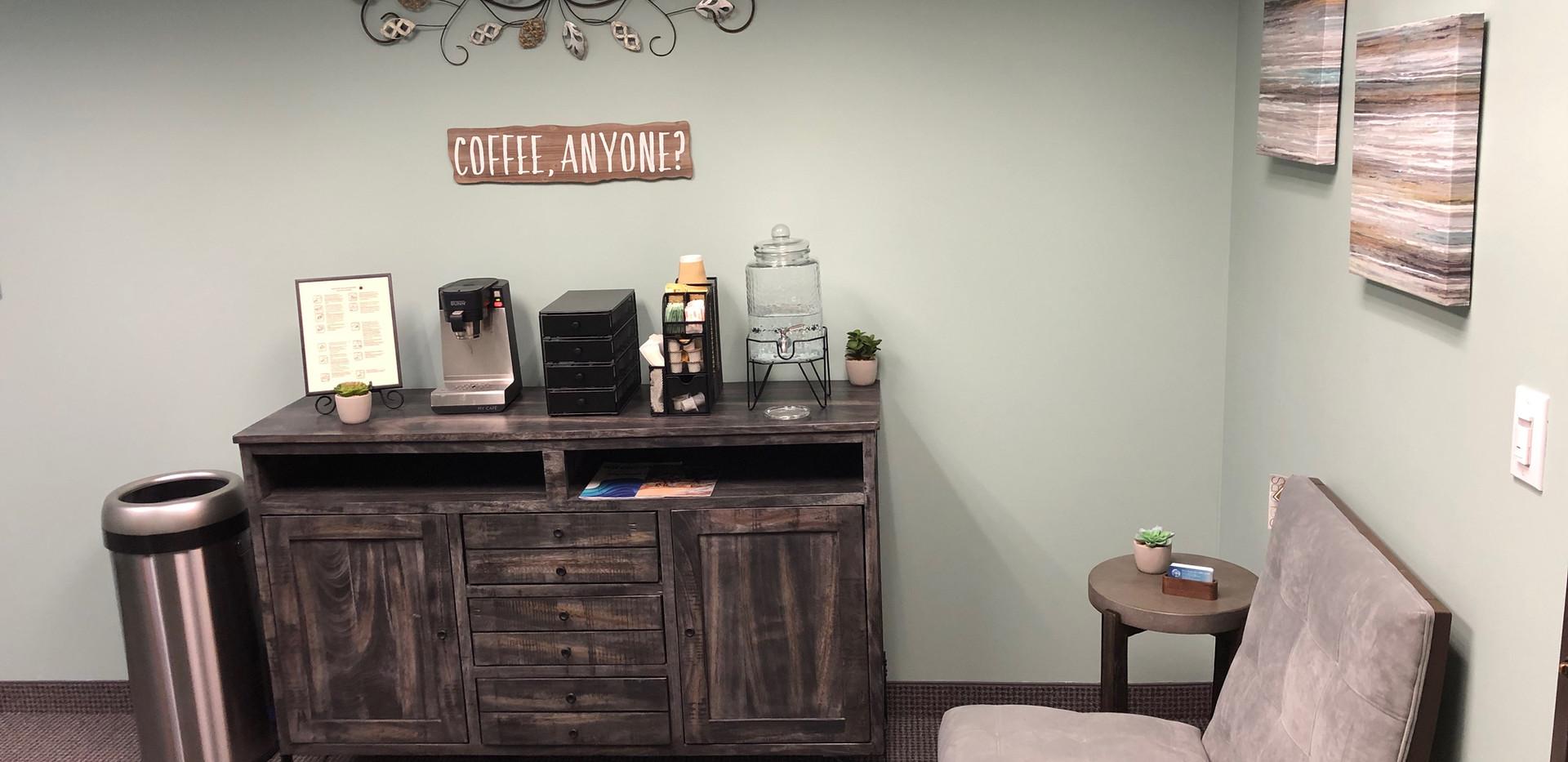 Complimentary Coffee, Tea, and Hot Chocolate