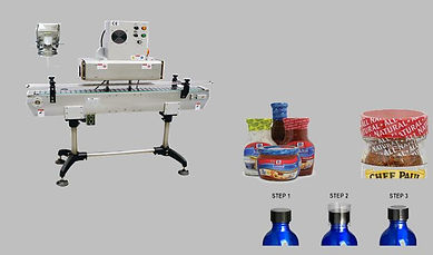 Bottle Cap Seal & Shrink Packaging Tunne