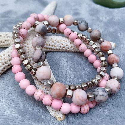 Go Pink Bracelet Stack (ARK009)