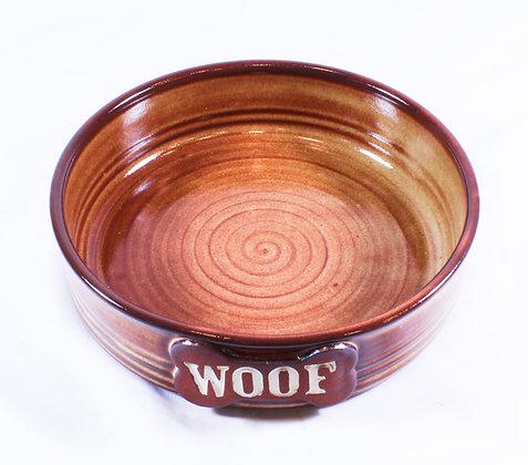 Dog Bowl with Brown Glaze (AMC 022)
