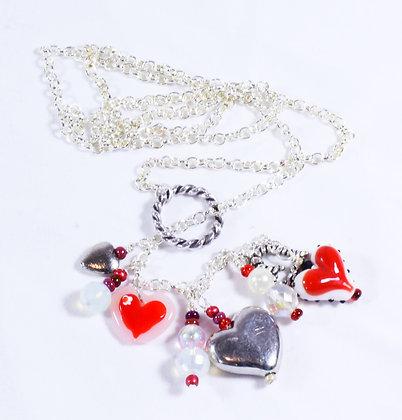 Charming Hearts Necklace (LJB 017)