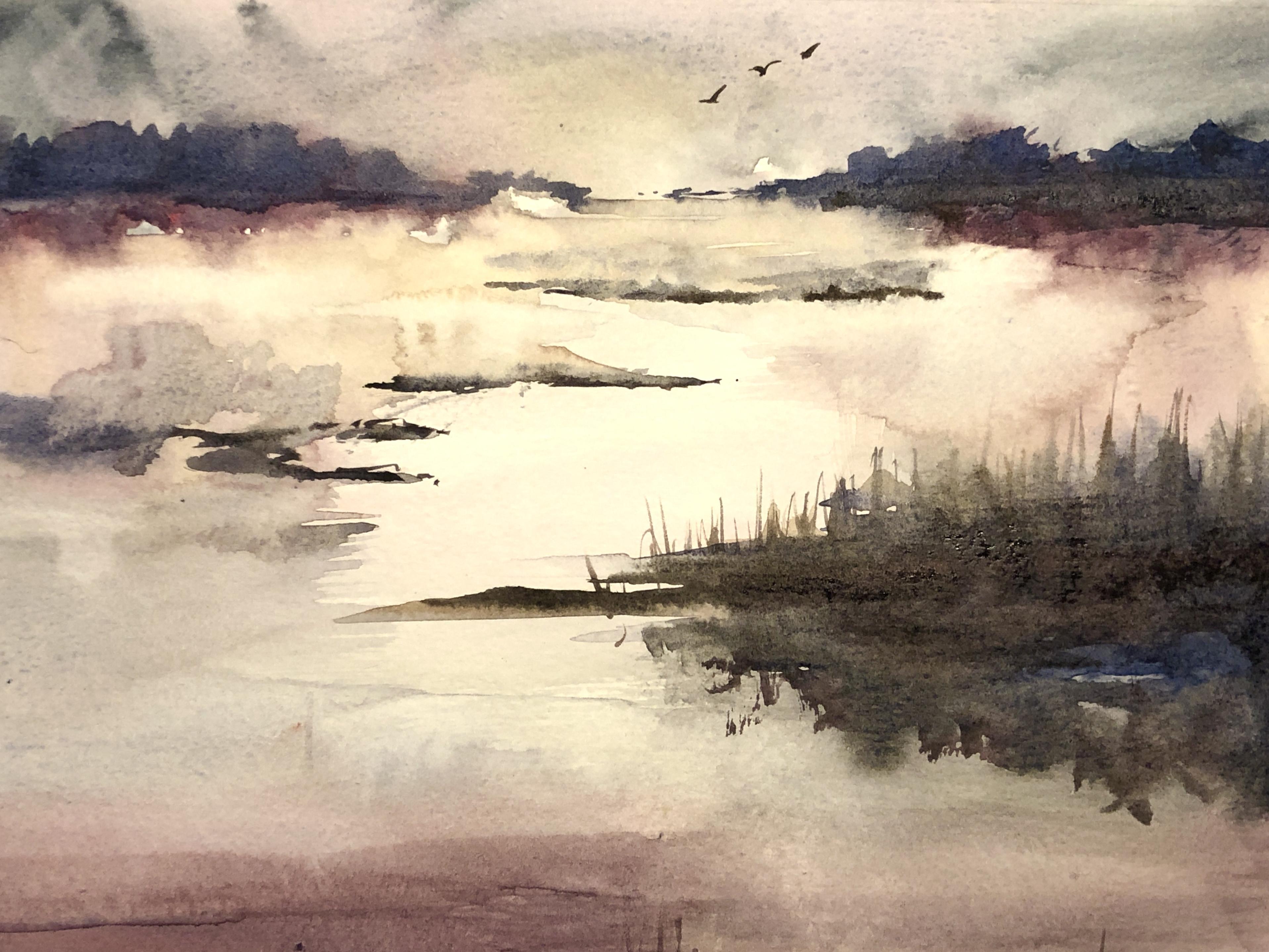 Vaishaly Jaiprakash: Watercolor Landscapes