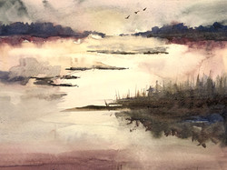 Vaishaly Jaiprakash: Watercolor Landscapes