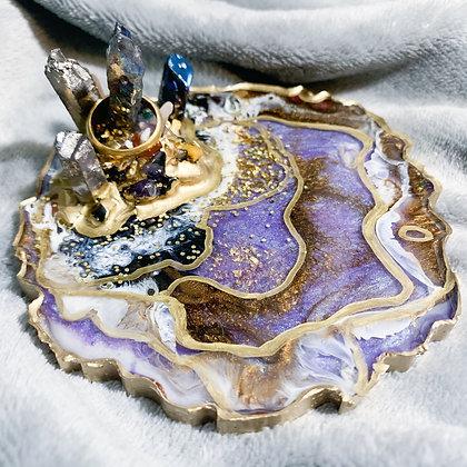 Purple Agate Ring Holder (ARK008)