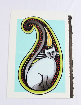 Kitty Greeting Card by Susan Helmer (SMH 505)