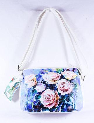 White Bag with Roses (NVB 019)