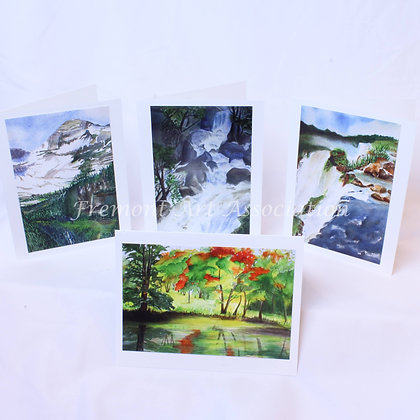 Set of 4 Blank Cards & Envelopes (CKR 007)