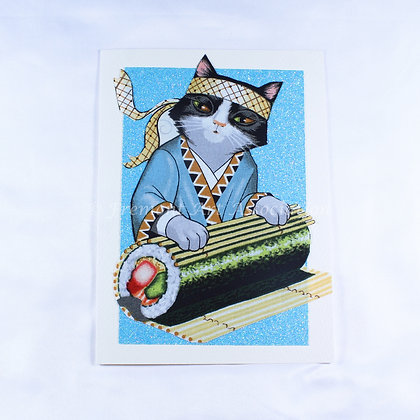 Kitty Greeting Card by Susan Helmer (SMH 510)