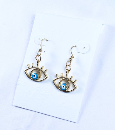 Gold Eye Earrings (SMH 041)