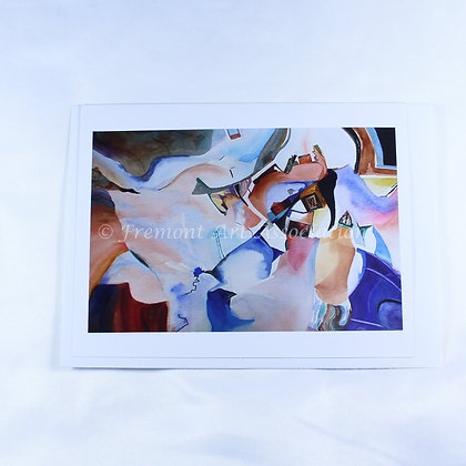 Abstract Watercolor Greeting Card (CKR 507)