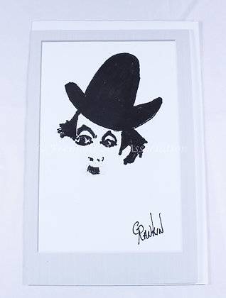 Charlie Chaplin card by Grace Rankin (GMR 502)