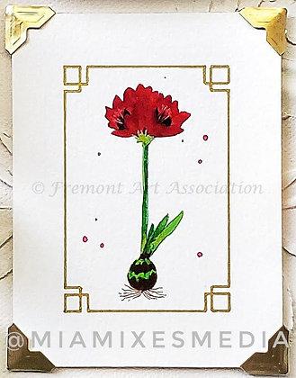 Original Painting: Amaryllis (MTB 018)