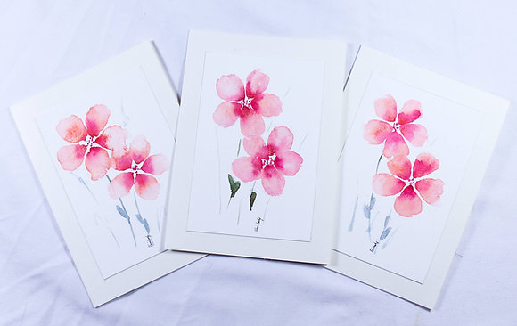 Set of 3 Original Watercolor Card (VFJ 538)