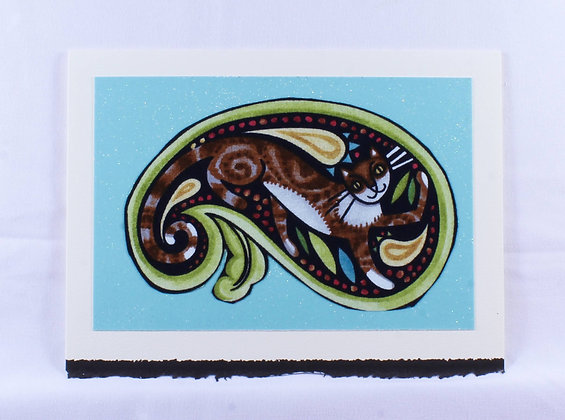 Kitty Greeting Card by Susan Helmer (SMH 511)