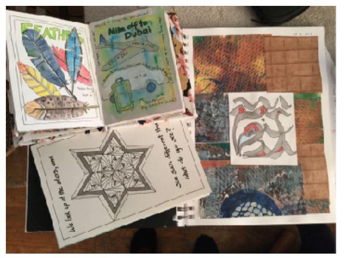 Barbara Cronin Art Journaling
