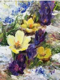 Julia Watson Painting Expressive Florals
