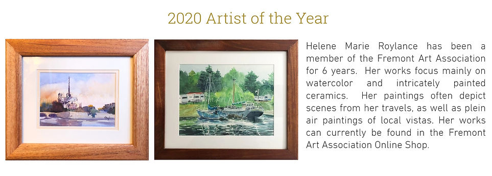 2020 Artist of the Year Helene Roylance.