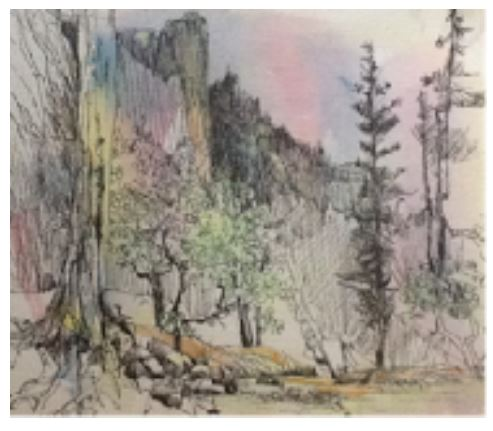 Jan Schafir: Pen and Ink Watercolor Wash.