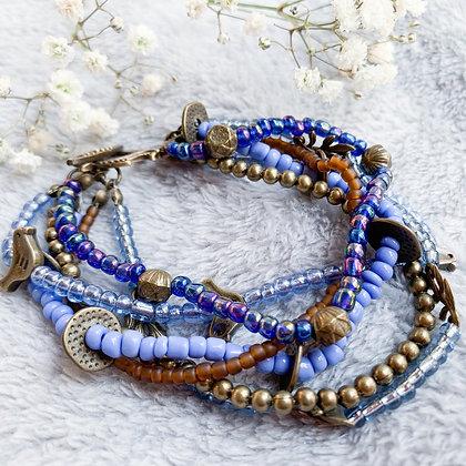 Evening Sky SeedBead Bracelet (ARK021)