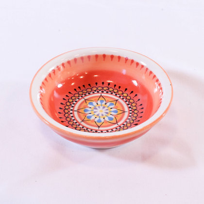 Small Orange Hand Painted Bowl (HMR 013)