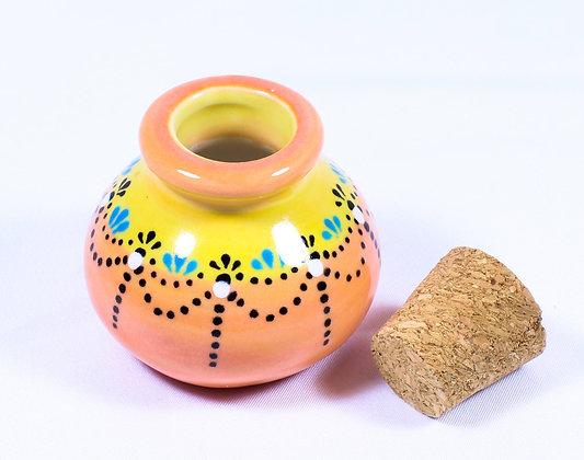 Hand Painted Ceramic Jar HMR 035)