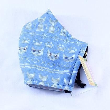 Cat Mask, Blue Cross-stitching (SMH 014)
