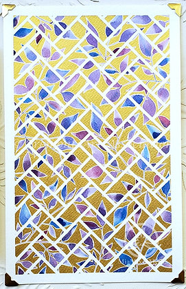 Original Painting: Tessellation - Purples and Blues (MTB 003)