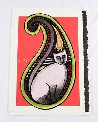 Kitty Greeting Card by Susan Helmer (SMH 504)