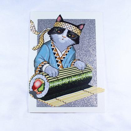 Kitty Greeting Card by Susan Helmer (SMH 508)