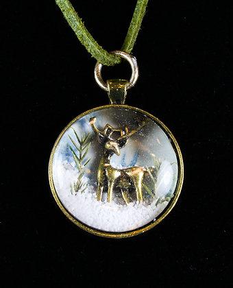 Deer Snow Globe Necklace (LJB 008)