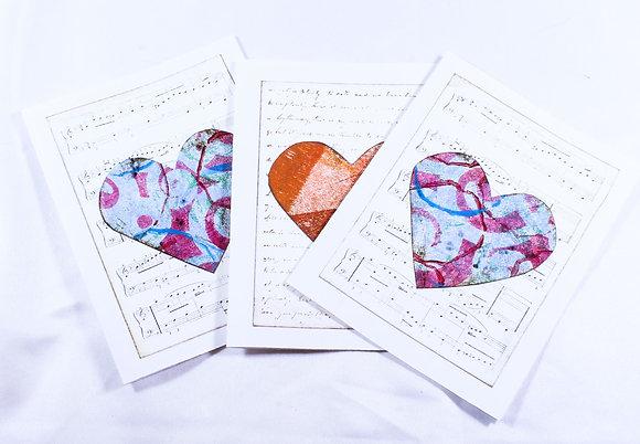 Set of 3 cards by Barbara Cronin (FAA 506)