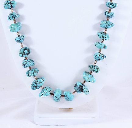 Turquoise & Heishi Necklace (LJB 016)