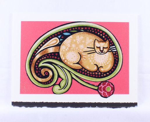 Kitty Greeting Card by Susan Helmer (SMH 512)