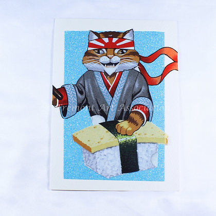 Kitty Greeting Card by Susan Helmer (SMH 509)