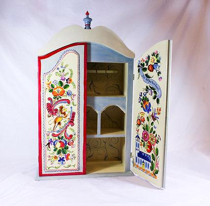 Tole Painted Tea Cabinet (LJB 010)