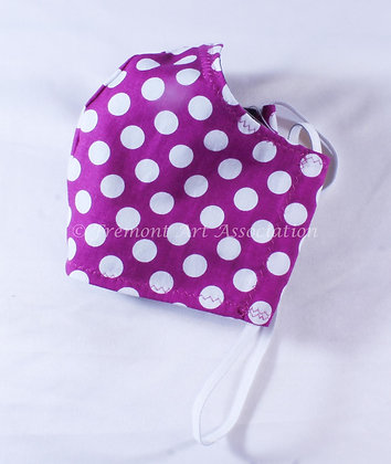 Polka dotted purple Mask (DMA 019)