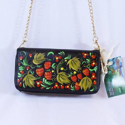 Russian Khokhloma Handbag  (NVB 008)