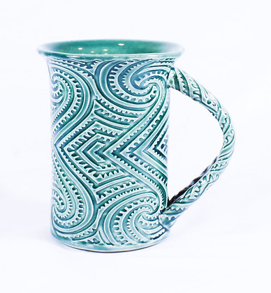 Large Green, Textured Mug (AMC 017)