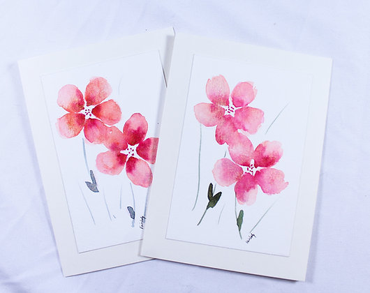 Set of 2 Original Watercolor Card (VFJ 539)