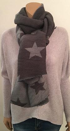 Reversible rib star scarf