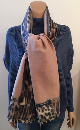 Taupe print scarf