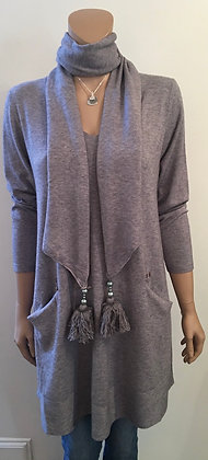 Scarf knit tunic