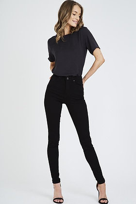 Black High Waist Soft Stretch Skinny Jeans